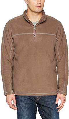 True Grit Men's Bonded Polar Fleece and Faux Sherpa 1/4 Zip Pullover