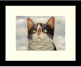 HUGO Amanti Art Hege Cat And Butterfly Framed Art Print