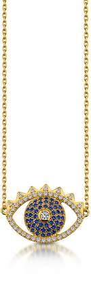 Kenzo Golden Sterling Silver Eye Necklace