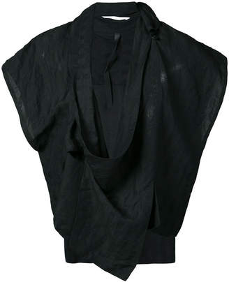 Barbara I Gongini sleeveless wrap jacket