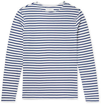 Officine Generale Striped Cotton-Jersey T-Shirt