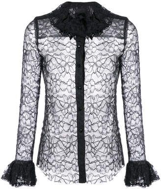 lace and frill shirt