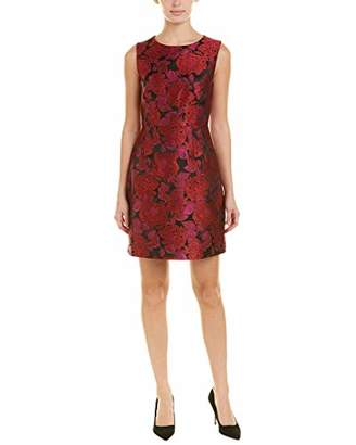 Betsey Johnson Women's Sleevless Floral Jacquard Dress