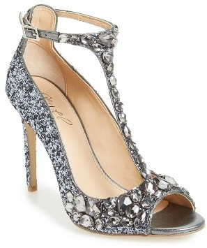 Women's Jewel Badgley Mischka Conroy Embellished T-Strap Pump $119.95 thestylecure.com