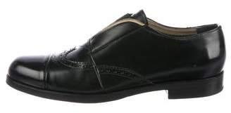 Prada Leather Brogue Loafers