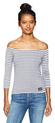 U.S. Polo Assn. Women's Striped Off Shoulder Tee