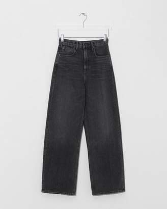 Alexander Wang Grey Aged Crush Wide Leg Jean