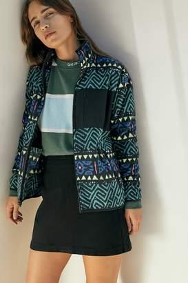 Quiksilver Printed Fleece Zip-Up Jacket