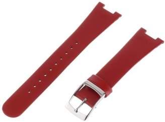 "Alessi ALSl404 Red Leather Strap for ""Luna"" Al8001 Watch Strap"