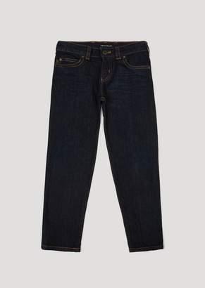 Emporio Armani Slim Fit Jeans In 11 Oz Comfort Cotton Twill