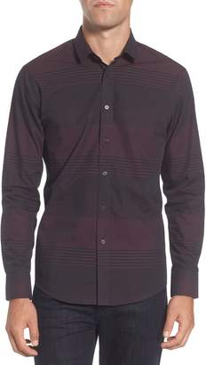 Vince Camuto Slim Fit Check Plaid Sport Shirt