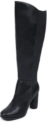 Knee High Cylinder Heel Boot