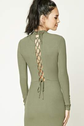 Forever 21 Ribbed Lace-Up Back Dress