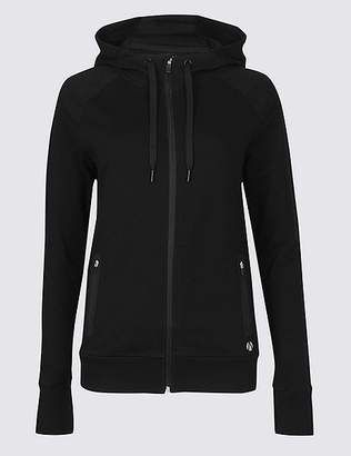 Marks and Spencer Cotton Rich Hooded Top