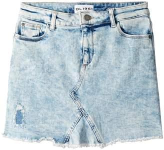 DL1961 Kids Acid Rinse Distressed Mini Skirt Girl's Skirt