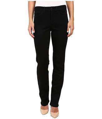 NYDJ Marilyn Straight Jeans in Black