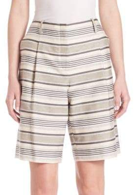 Lafayette 148 New York Striped Rivington Shorts