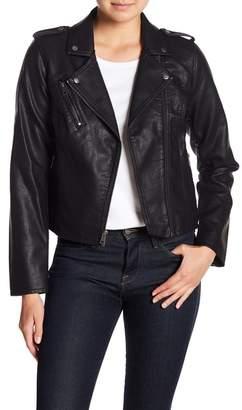 Levi's Zip Front Faux Leather Jacket
