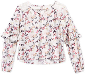 Epic Threads Big Girls Butterfly-Print Top, Created for Macy's