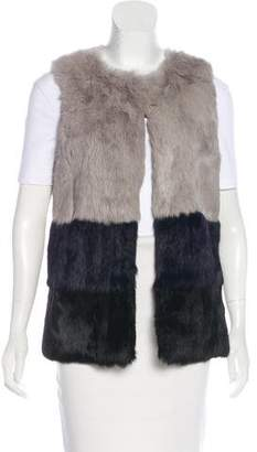 Jocelyn Collarless Fur Vest w/ Tags
