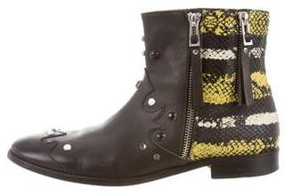Zadig & Voltaire Embossed Studded Western Boots