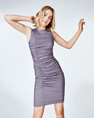 Nicole Miller Cotton Metal Tuck Dress