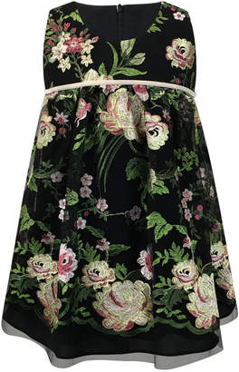 Helena Sleeveless Floral-Embroidered Dress, Size 2-6