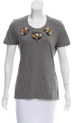 Burberry Embellished Short Sleeve T-Shirt