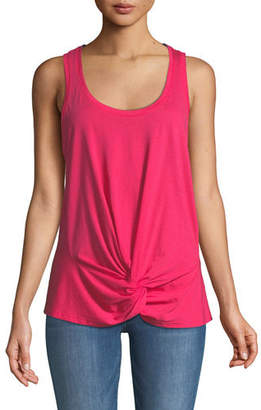 7 For All Mankind Twist-Front Racerback Tank