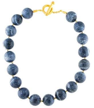 Yossi Harari 24K Dyed Fossil Coral Bead Necklace
