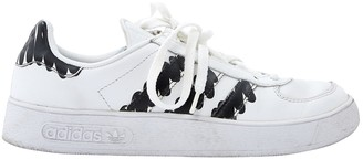adidas White Leather Trainers