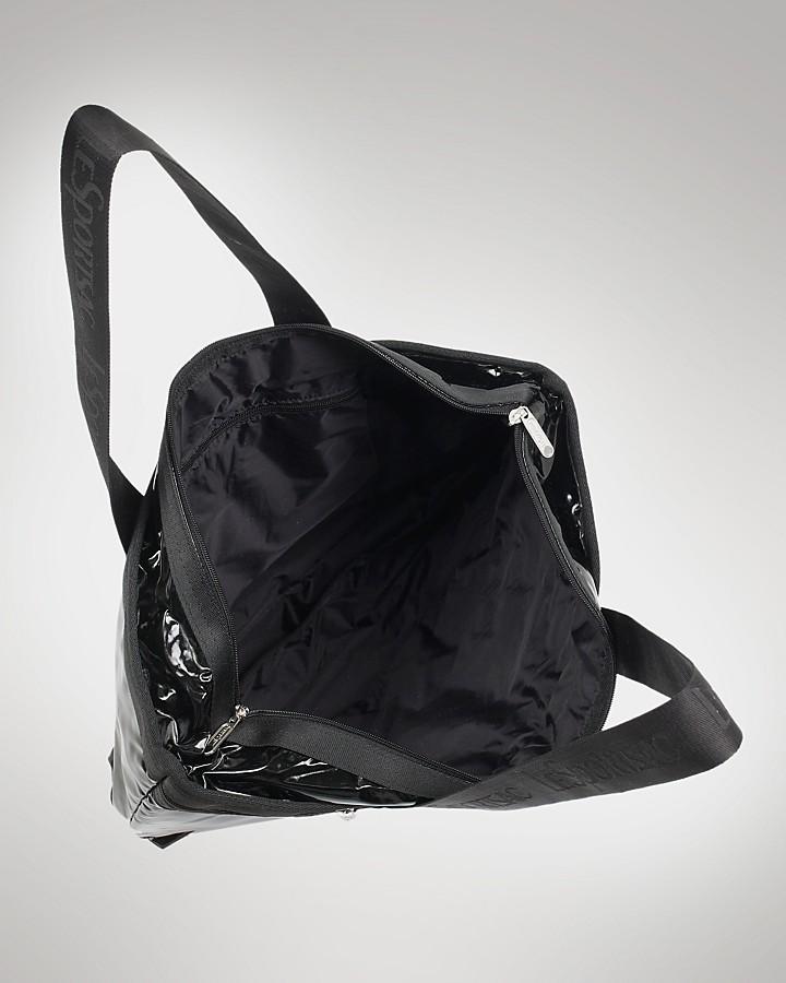 Le Sport Sac Medium Travel Tote in Black Shine