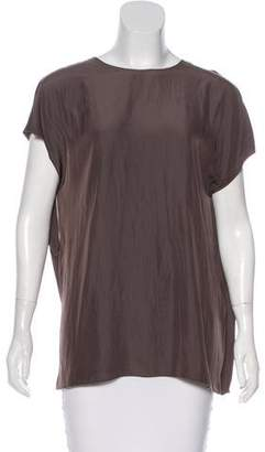 Lanvin Draped Short Sleeve Top