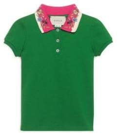 Gucci Little Girl's& Girl's Embroidered Polo Top