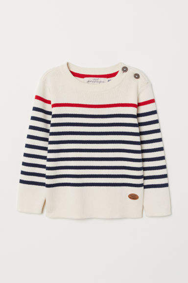 H&M - Fine-knit Cotton Sweater - White