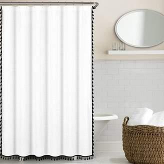 Eider & Ivory Angelia 100% Cotton Tassel Shower Curtain