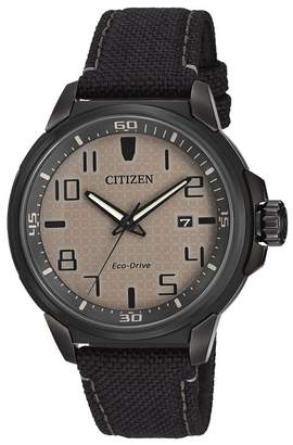 Citizen Men's Eco-Drive AR Black Nylon Strap Watch, 43mm
