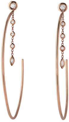 Jacquie Aiche Large Diamond Drip Hoop Earrings - Rose Gold