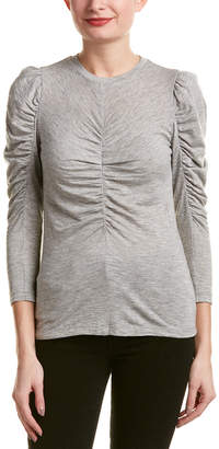 Rebecca Taylor Ruched Wool-Blend Top