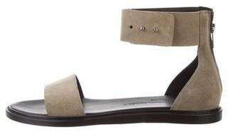 Common Projects Woman by Suede Ankle Strap Sandals w/ Tags