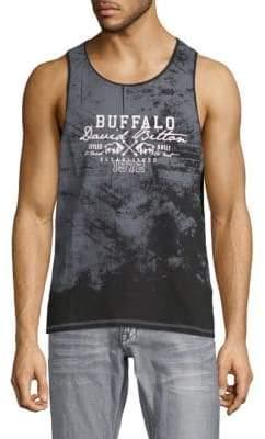 Buffalo David Bitton Navier Graphic Cotton Tank Top