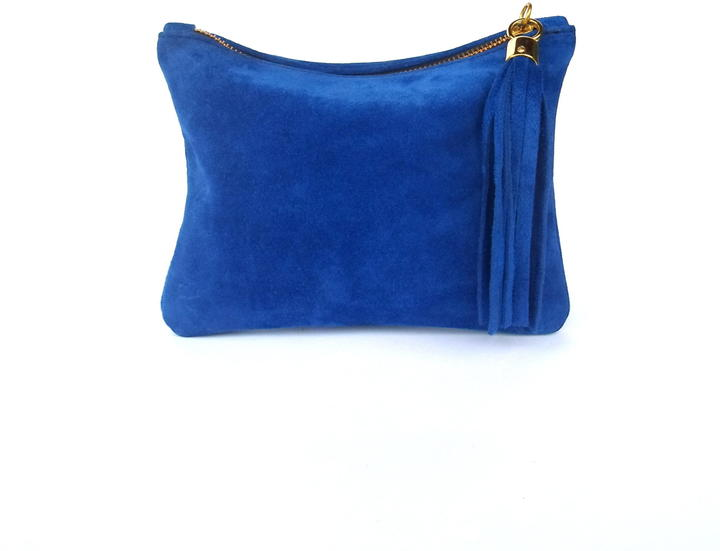 Miller and Jeeves Mini Suede Clutch - Royal Blue
