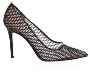 Sarah Jessica Parker Fawn Mesh Leather Point-Toe Pumps