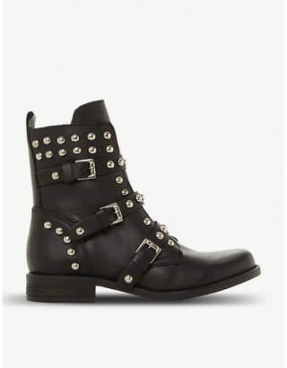 7d01bc4a726 Steve Madden Spunky stud and zip-detail leather boots
