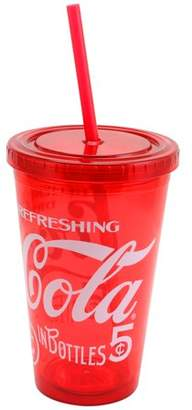 Coca-Cola Retro Legacy 18 oz. Tumbler with Lid and Straw