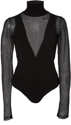 Zeynep Arçay Mesh-Paneled Stretch-Knit Turtleneck Bodysuit