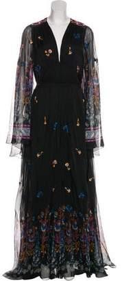 Etro Silk Embroidered Gown