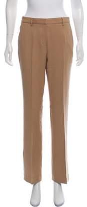 Prada Virgin Wool Mid-Rise Pants Khaki Virgin Wool Mid-Rise Pants