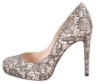 LK Bennett Lace Round-Toe Pumps