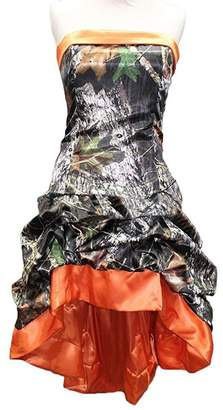 Beautydress Womens Camo Prom Evening Gown Hi-Lo Strapless Wedding Party Dress BP033
